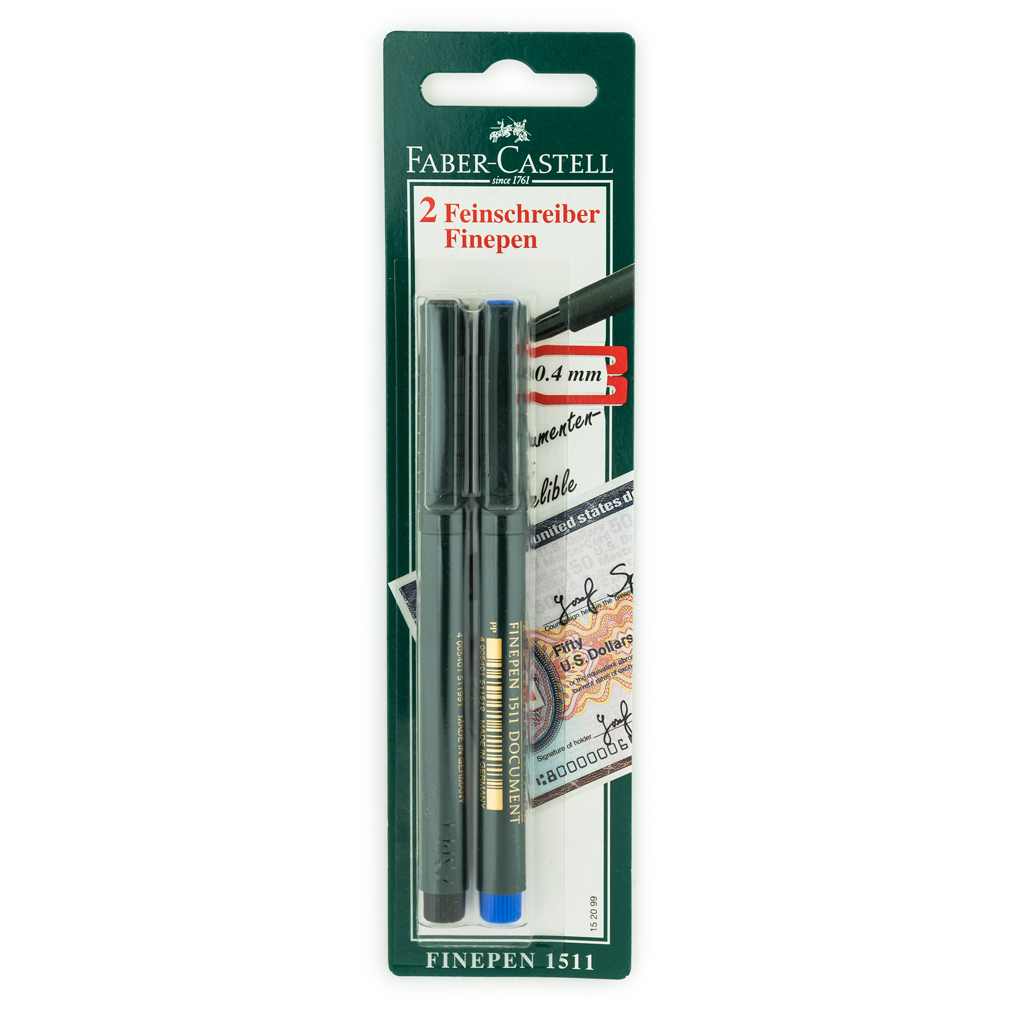 faber castell finepen 1511 blue and black set. Black Bedroom Furniture Sets. Home Design Ideas