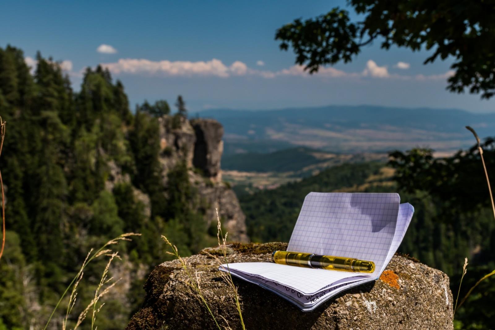 Rhodia Classic A7 notebook and Pelikan M205 DUO pen in Borovetz, Bulgaria