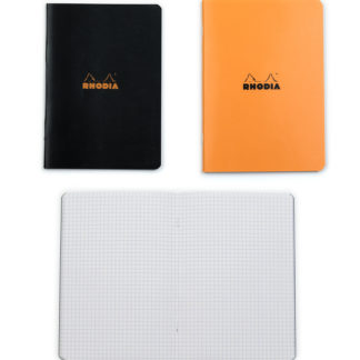 Rhodia Classic A5 Orange and Black bundle